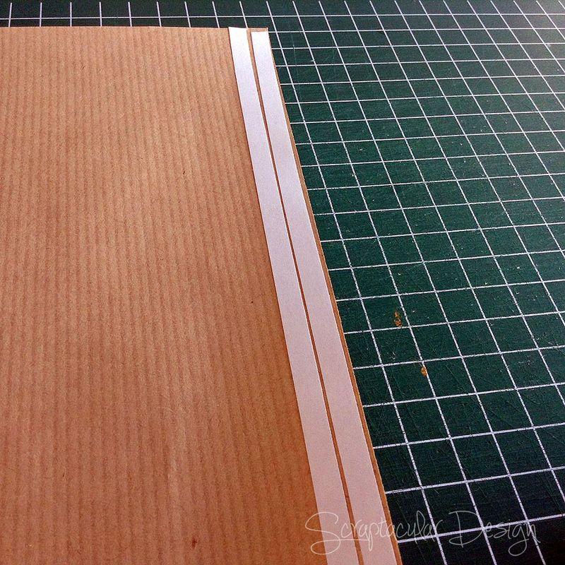 Strips van Kraftpapier maken,  stap_1