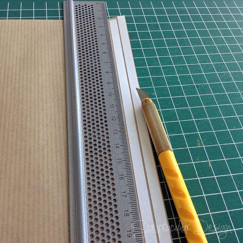 Strips van Kraftpapier maken,  stap_2