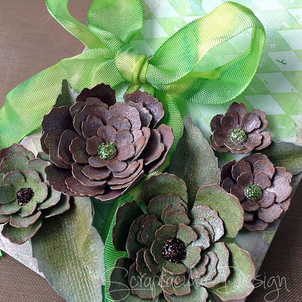 Tutorial Garland Flowers, stap 25