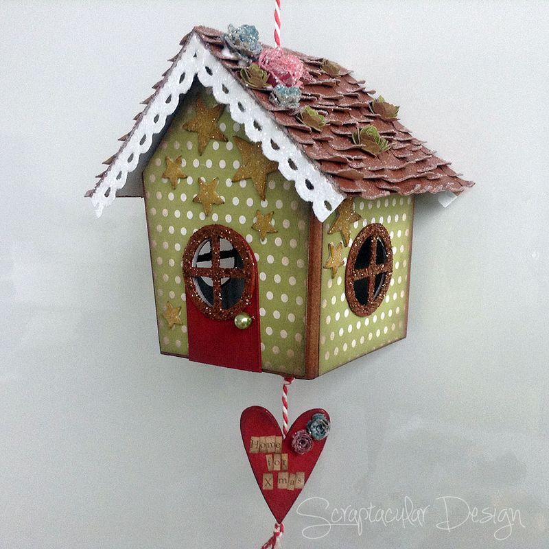 Online Workshop Christmas Ornament, Home for X-Masstap 89