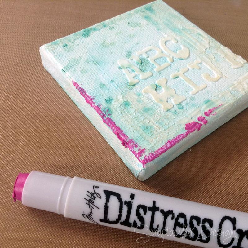Tutorial Distress Crayons Ranger  stap 5