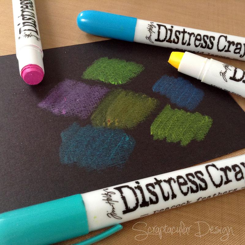 Tutorial Distress Crayons Ranger  stap 10