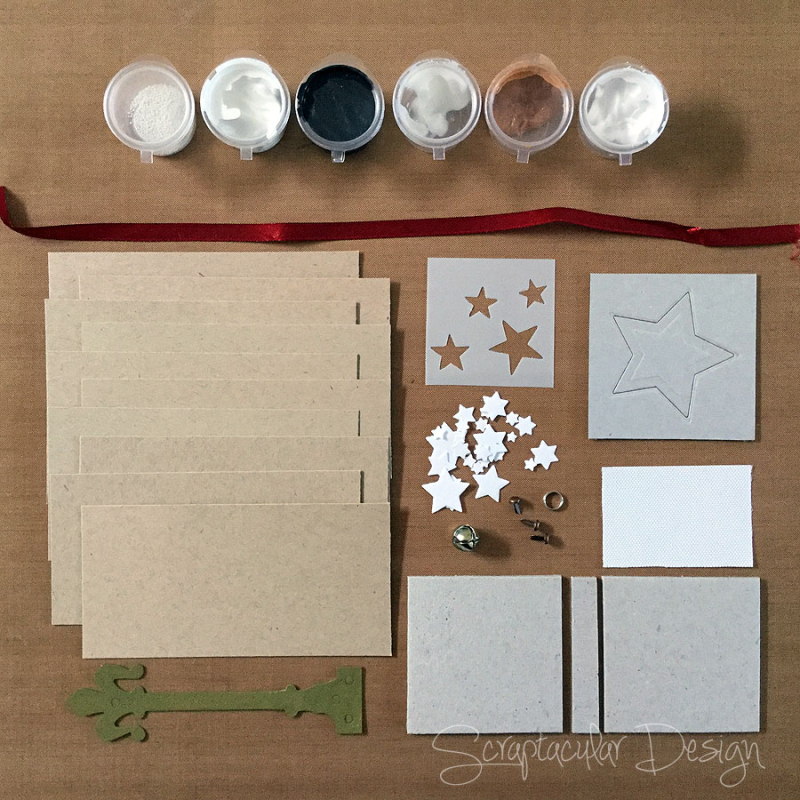 Scraptacular Design Tiny Project Stars1. materialen