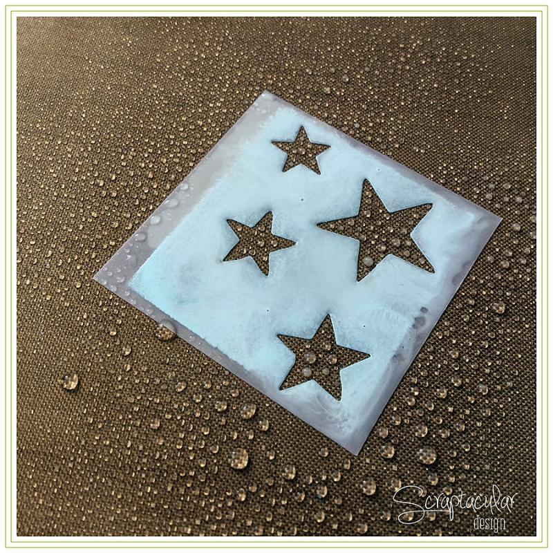 Scraptacular Design Tiny Project Stars11.stencil schoonmaken