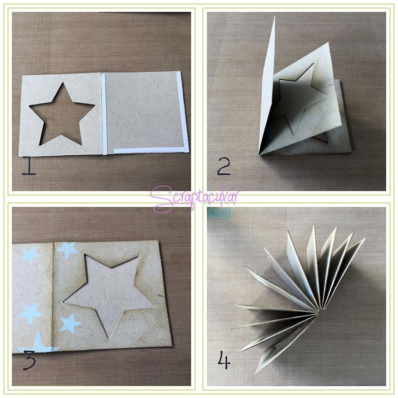 Scraptacular Design Tiny Project Stars14. pagina's aan elkaar zetten