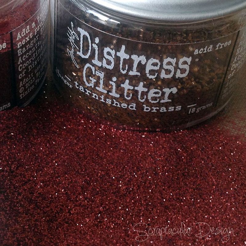 Distress Glitter, how to, 1