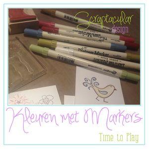 Kleuren met markers