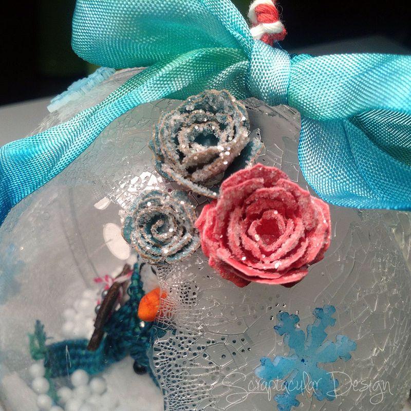 Online Workshop Christmas Ornaments, Sneeuwman balstap 87
