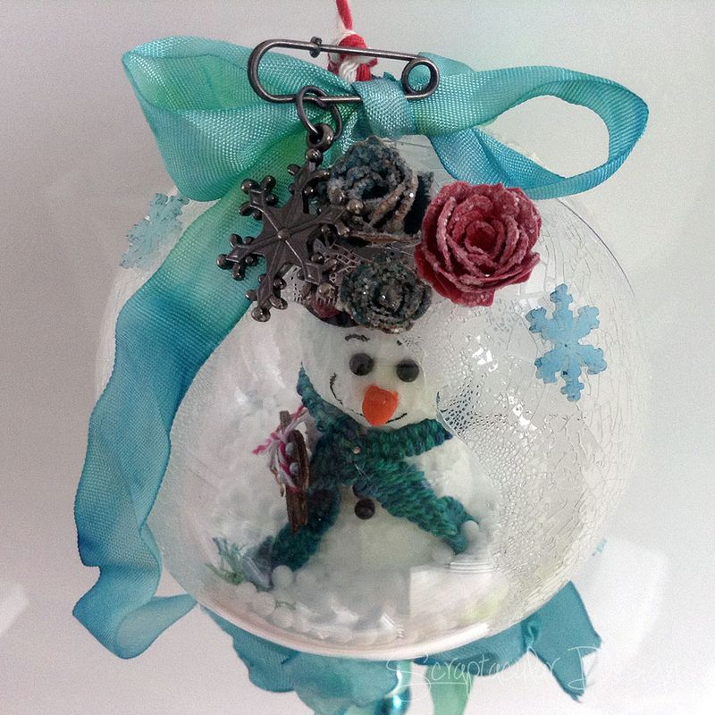 Online Workshop Christmas Ornaments, Sneeuwman balstap 91