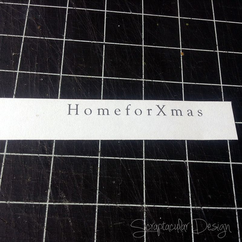 Online Workshop Christmas Ornament, Home for X-Masstap 78