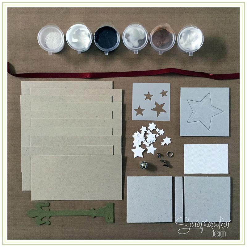 Scraptacular Design Tiny Project Stars1. materialen