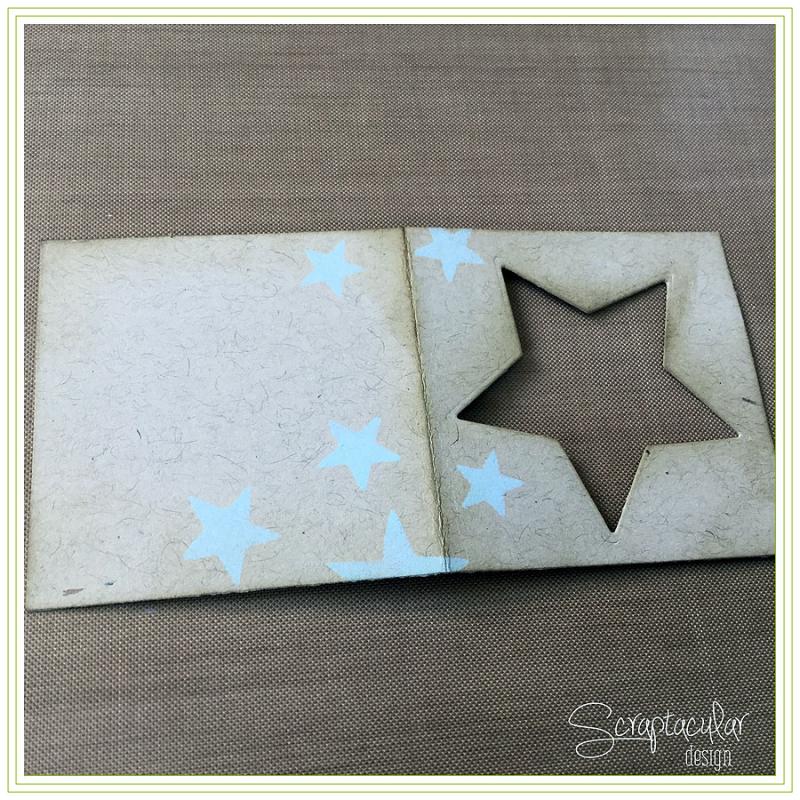 Scraptacular Design Tiny Project Stars13.distress op pagina