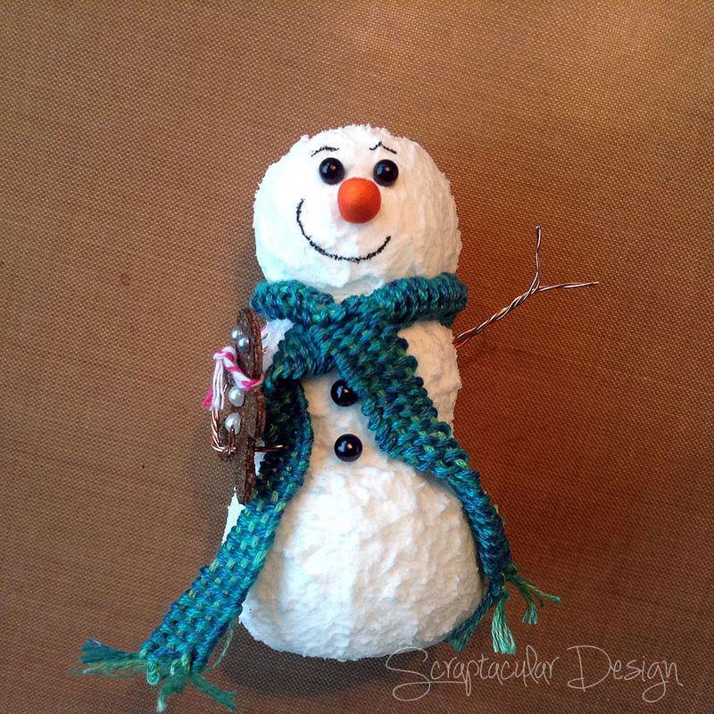 Online Workshop Christmas Ornaments, Sneeuwman balstap 49
