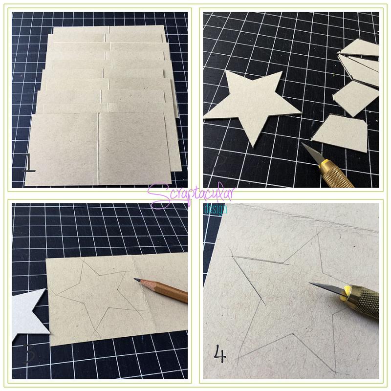 Scraptacular Design Tiny Project Stars8.ster in pagina met mesje