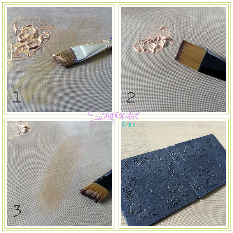 Scraptacular Design Tiny Project Stars20.dry brushing